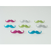 8 bagues moustache à paillettes enfant