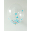 8 ballons remplis de confettis bleus