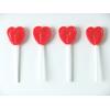 10 sucettes coeur rouge