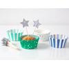 Kit 24 caissettes cupcake et toppers étoile