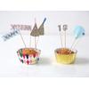 kit 24 caissettes cupcake personnalisables pour anniversaire