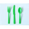 couvert-jetable-en-plastique-vert