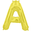 Ballon mylar lettres A à Z alu doré - 41 cm