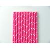 25 Pailles papier à étoiles