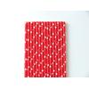 25 pailles papier rouge à étoiles