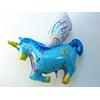 Ballon licorne aluminium bleue