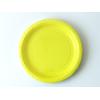 assiette-jetable-carton-jaune-pastel