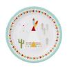 12 assiettes carton anniversaire indien