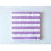 20 serviettes jetables rayures mauve