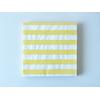 20 serviettes jetables rayures jaune