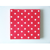 serviette-rouge-a-pois