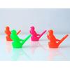 10 sifflets oiseau en plastique 6,5cm