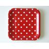 12 assiettes carton carrées à étoiles