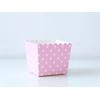 6 boites bonbons pois - rose clair