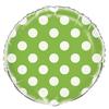 Ballon mylar vert à pois blanc