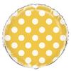 Ballon mylar jaune à pois blanc