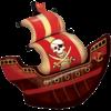 Ballon mylar bateau de pirate