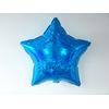 Ballon mylar étoile holographique bleu