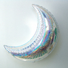 Ballon lune helium holographique argent
