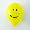 10 ballons de baudruche smiley jaune