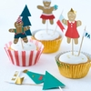 Kit 24 caissettes cupcakes Noël Gingerbread