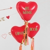 Kit 8 ballons coeur et stickers love