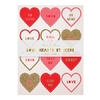 10 stickers coeur