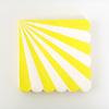 20 serviettes jetables papier rayures jaune