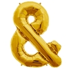 Ballon mylar esperluette doré