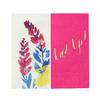 20 serviettes jetables Fluorescent floral