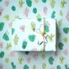 5 feuilles de papier cadeau cactus