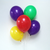 12 ballons latex jaune, rouge, vert, violet