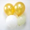 12 ballons de baudruche assortiment champagne