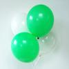 12 ballons de baudruche assortiment vert