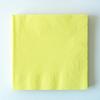 20 serviettes unies jaune pastel