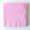 20 serviettes unies rose clair