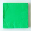 20 serviettes unies vertes
