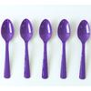 20 petites cuillères en plastique violet