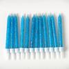 12 bougies bleues à paillettes