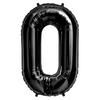 Ballon mylar chiffre 0 à 9 noir - 87 cm