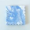 20 serviettes marbrées bleu