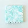20 serviettes marbrées menthe