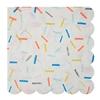 16 serviettes sprinkles multicolores