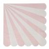 20 serviettes rayures rose clair