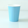 8 gobelets unis bleu clair