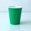 8 gobelets unis vert émeraude