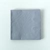 20 serviettes unies gris argenté