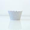 12 contours à cupcakes à paillettes argent