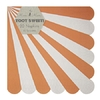 20 serviettes papier rayures orange