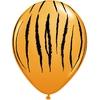 25 ballons de baudruche imprimés tigre